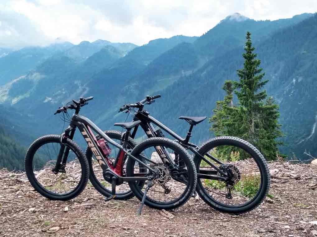 Bikestrecke Steinwand